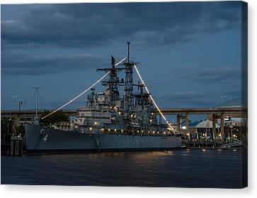 Uss Little Rock Clg-4 Canvas Print by Guy Whiteley