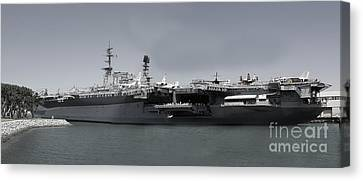Uss Midway Canvas Print by Russell Christie