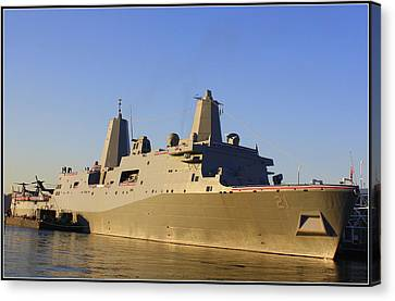 Uss New York - Lpd21 Canvas Print by Dora Sofia Caputo Photographic Art and Design