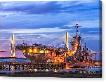 Uss Yorktown Museum Canvas Print by Jerry Fornarotto