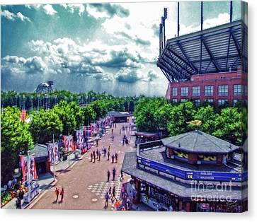Ashe Canvas Print - Usta Grounds Flushing Meadows by Nishanth Gopinathan