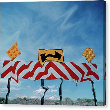 Utah, Digital Distortion Road Sign Canvas Print