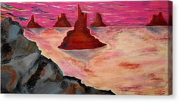 Utah Dusk Canvas Print by Robert Handler