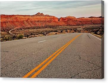 Utah Highway Canvas Print by Benjamin Yeager