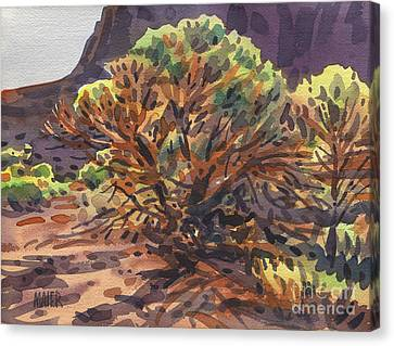 Canvas Print featuring the painting Utah Juniper by Donald Maier