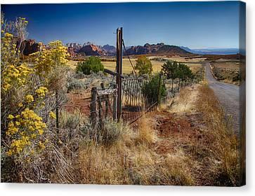 Canvas Print featuring the digital art Utah Landscape by Sharon Beth