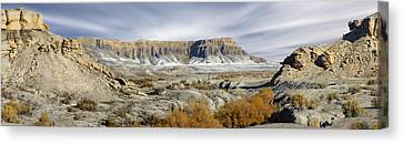 Utah Art Canvas Print - Utah Outback 43 Panoramic by Mike McGlothlen