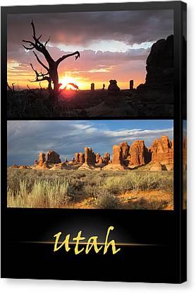 Utah Poster Canvas Print