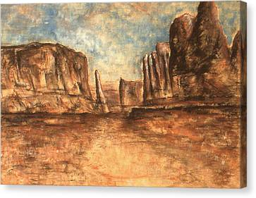 Utah Red Rocks - Landscape Art Canvas Print by Art America Online Gallery