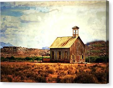 Utah Schoolhouse Canvas Print by Marty Koch
