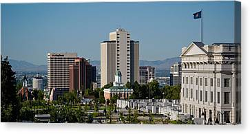 Utah State Capitol Building, Salt Lake Canvas Print by Panoramic Images