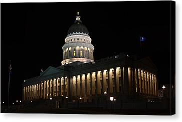 Canvas Print featuring the photograph Utah State Capitol East by David Andersen