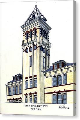 Utah State University Canvas Print by Frederic Kohli
