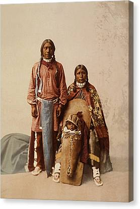 Ute Jose Romero And Family Canvas Print by William Henry Jackson