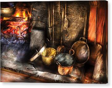 Utensils - Colonial Kitchen Canvas Print by Mike Savad