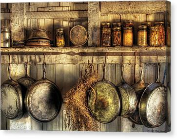 Preserves Canvas Print - Utensils - Old Country Kitchen by Mike Savad