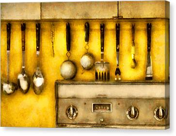Utensils - The Kitchen  Canvas Print by Mike Savad