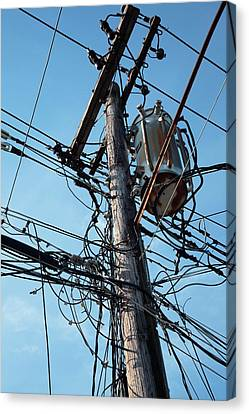 Utility Pole Canvas Print by Jim West