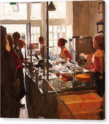 Canvas Print featuring the painting Utrecht. Sector 3 Horeca Shop by Nop Briex