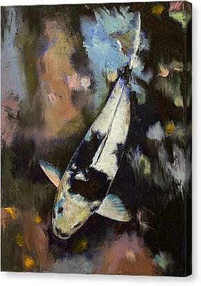 Utsuri Koi Reflections Canvas Print by Michael Creese