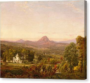 Autumn Landscape Sugar Loaf Mountain. Orange County  New York Canvas Print by Jasper Francis Cropsey