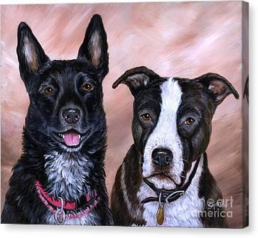 V And Lucky Canvas Print by Sharon Molinaro