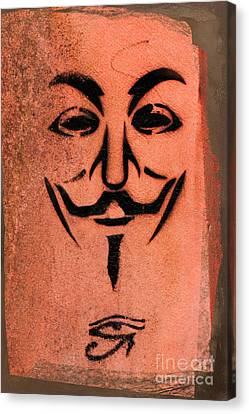 V For Vendetta Canvas Print by Gillian Singleton