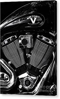 V For Victory Canvas Print by Tim Gainey