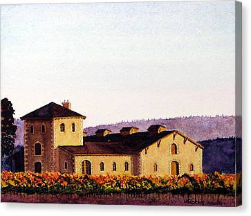 V. Sattui Winery Canvas Print by Mike Robles