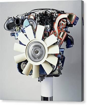V12 Petrol Engine Canvas Print