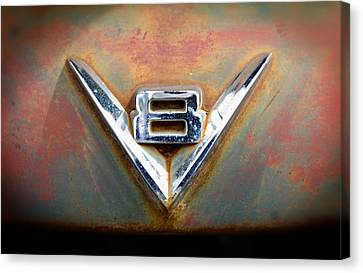 V8 Ford Canvas Print by Bud Simpson