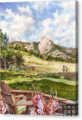 Vacation At Chautauqua Canvas Print by Anne Gifford