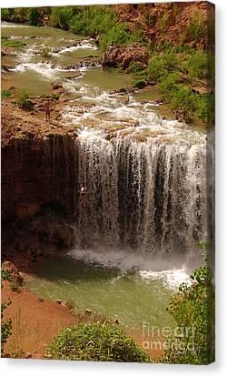 Vacation At Lower Navajo Falls Canvas Print