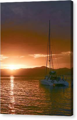 Vacation Sunset Canvas Print by    Michael Glenn