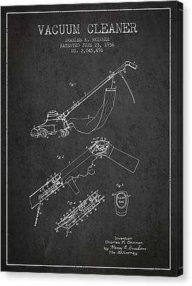 Vacuum Canvas Print - Vacuum Cleaner Patent From 1936 - Dark by Aged Pixel