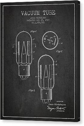 Vacuum Tube Patent From 1927 - Charcoal Canvas Print by Aged Pixel