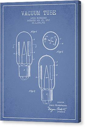 Vacuum Tube Patent From 1927 - Light Blue Canvas Print by Aged Pixel