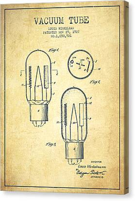 Vacuum Tube Patent From 1927 - Vintage Canvas Print by Aged Pixel
