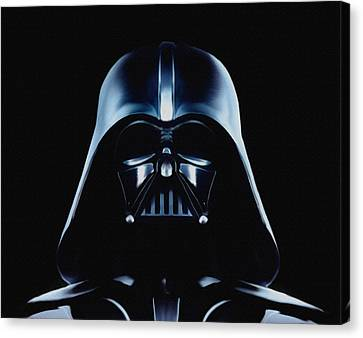 Canvas Print featuring the painting Vader by Jeff DOttavio