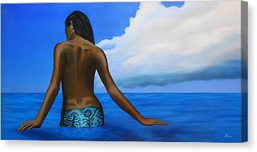 Vahine De Tahiti Canvas Print by Wahine Art