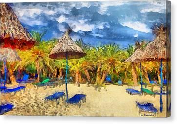 Vai Beach Crete Canvas Print by George Rossidis