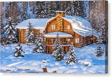 Vail Chalet Canvas Print by Darren  White