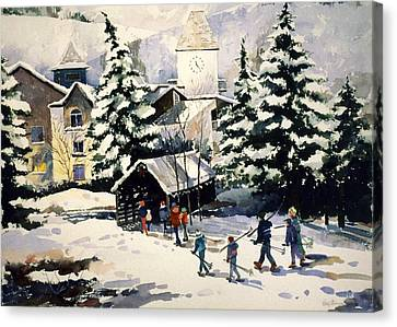 Vail Covered Bridge Canvas Print by Patty  Frierson