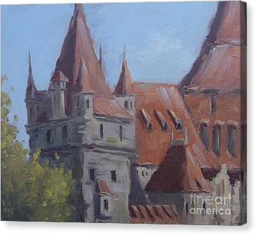 Vajdahunyad Castle Canvas Print by Viktoria K Majestic