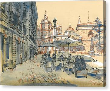Valencia. View Of The Cathedral Canvas Print