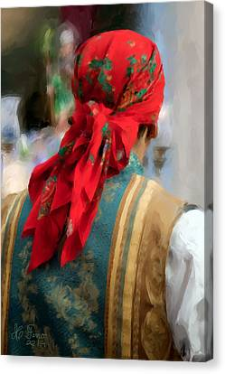 Canvas Print featuring the photograph Valencian Man In Traditional Dress. Spain by Juan Carlos Ferro Duque