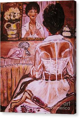 Canvas Print featuring the painting Valentina by Helena Bebirian