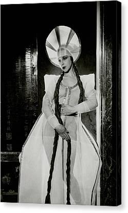 Ballet Dancers Canvas Print - Valentina Koshubaas The Bride In Les Noces by Cecil Beaton