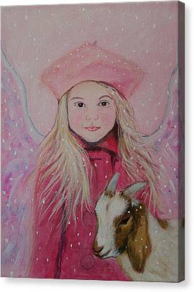 Valentina Little Angel Of Perseverance And Prosperity Canvas Print by The Art With A Heart By Charlotte Phillips