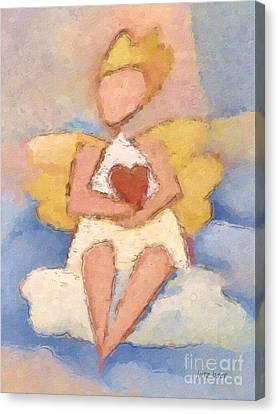 Valentine Angel Canvas Print by Lutz Baar